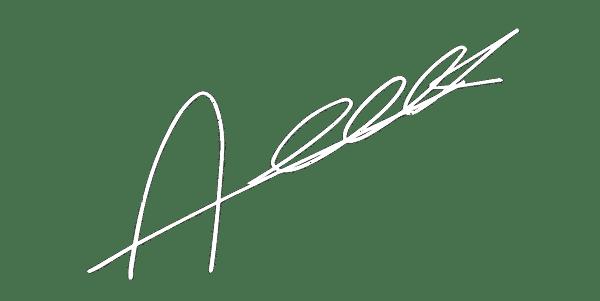 Signature blanche Alexandre Texier