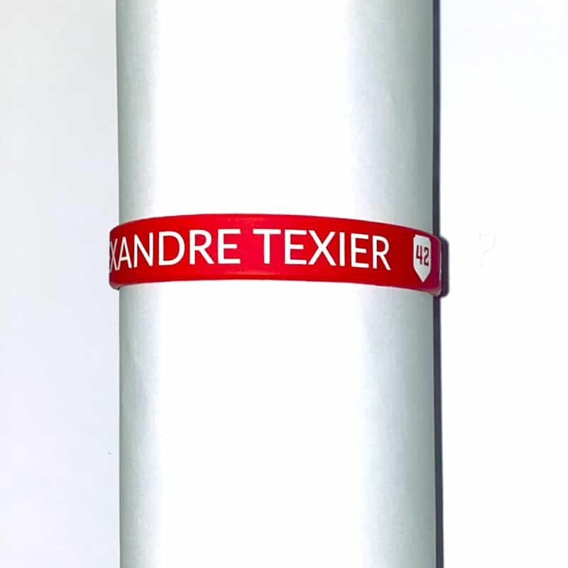 Bracelet rouge Alexandre Texier