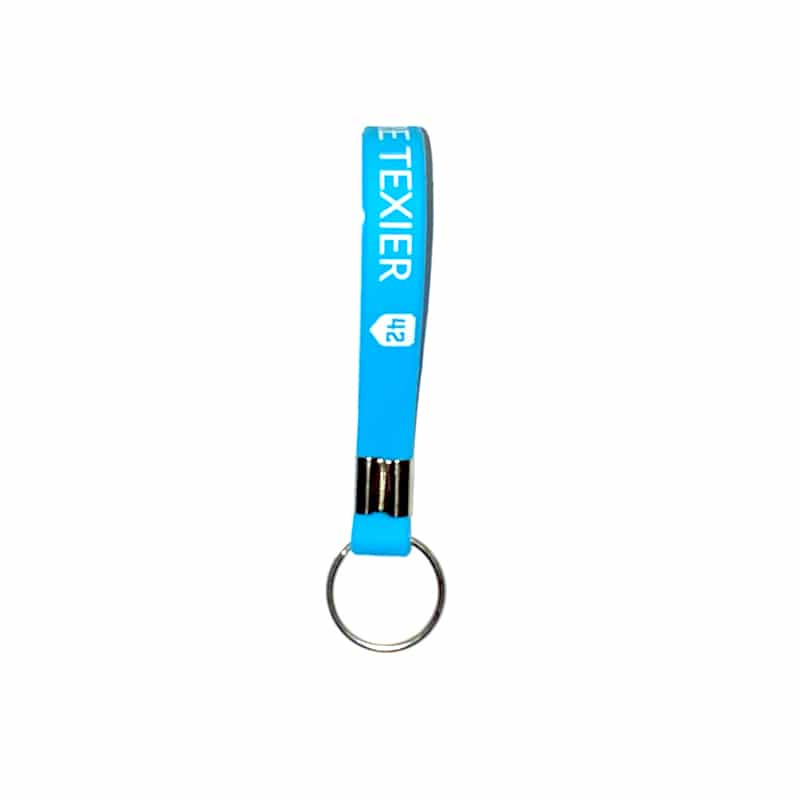 Porte-clés bleu clair 42 Alexandre Texier