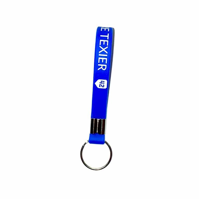 Porte-clés bleu 42 Alexandre Texier