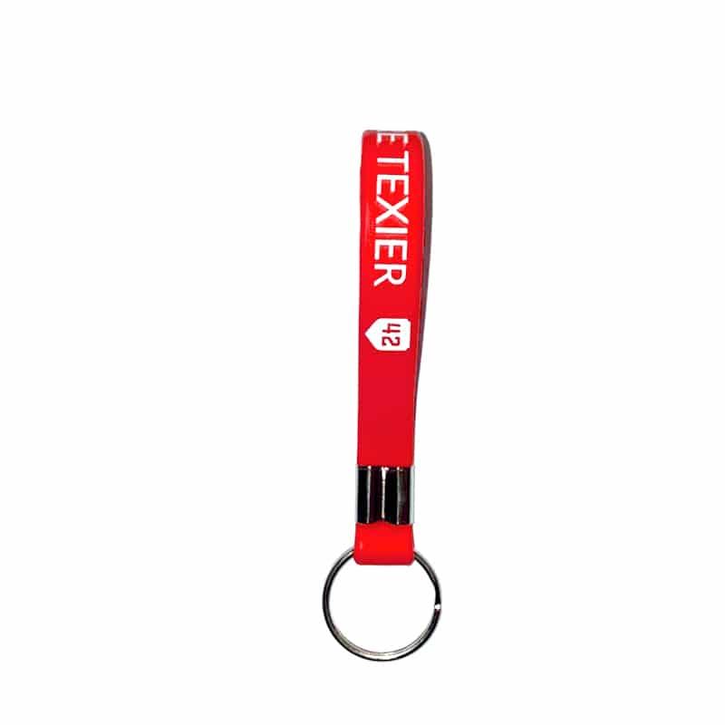 Porte-clés rouge 42 Alexandre Texier